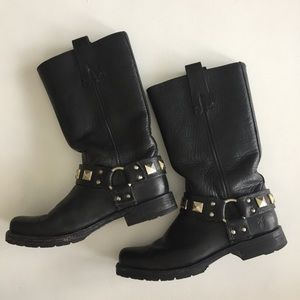 Frey studded harness boots